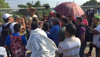 Foto: El puente internacional Rodolfo Robles que une Guatemala y México lleno por migrantes centroamericanos, enero 26 de 2019 (Twitter: @NT_Regionales)