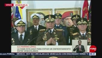 Fuerzas Armadas de Venezuela buscan evitar enfrentamiento, dice Padrino López