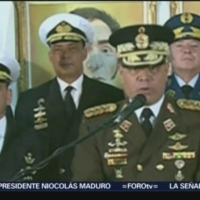 Fuerzas Armadas respaldan a Maduro