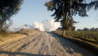 Foto: Fuga de gas autopista Puebla Veracruz, 29 de enero 2019, Puebla