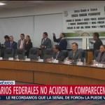 Funcionarios federales no acuden a comparecencia sobre estrategia contra huachicol