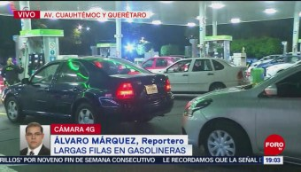 Gasolinera de la colonia Roma registran filas de más de 2 kilómetros
