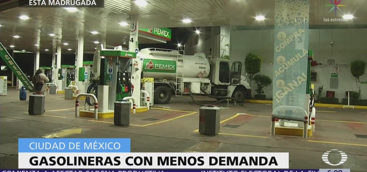 Gasolineras de la CDMX registran menos demanda de automóviles