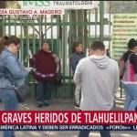 Graves, heridos de Tlahuelilpan internados en Magdalena de las Salinas