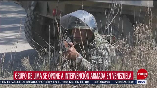 Foto: Grupo De Lima Opone Intervención Armada Venezuela 29 de Enero 209