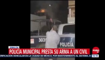 Hombre dispara al aire con permiso de policías de Culiacán