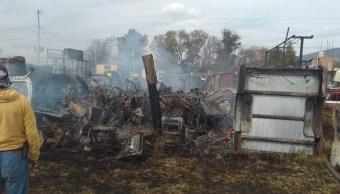incendio consume deposito de autos en san martin texmelucan puebla