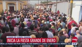 Inicia la fiesta grande de enero en Chiapa de Corzo, Chiapas