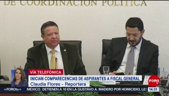 Inician comparecencias de aspirantes a fiscal General