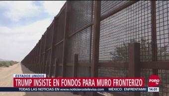 Insiste Trump En Fondos Para Construir Muro Fronterizo, Construir Muro Fronterizo, Estados Unidos, Presidente, Donald Trump, Cierre Parcial Del Gobierno Federal