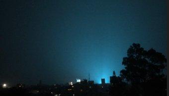 La causa de las extrañas luces en el cielo de la CDMX