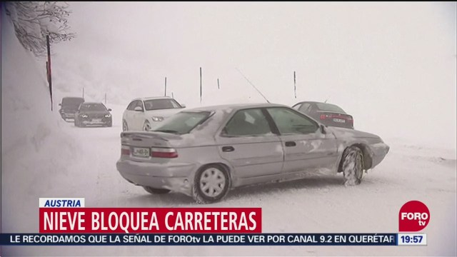 Las fuertes nevadas afectan Austria y Alemania