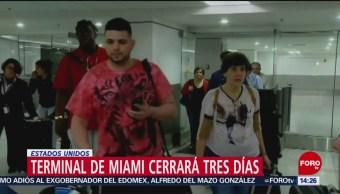 Terminal de Aeropuerto de Miami cierra por parálisis de Gobierno