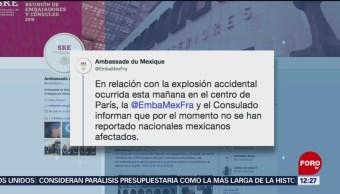 No hay mexicanos afectados por explosión en panadería en Francia