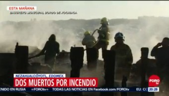 Dos Muertos Por Incendio En Basurero En Bordo De Xochiaca, Dos Muertos, Incendio, Basurero, Bordo De Xochiaca, Incendio En Basurero, Estado De México