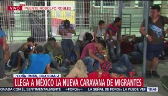 Llega a México la nueva caravana de migrantes