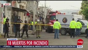 Incendio en clínica de Ecuador deja 18 muertos
