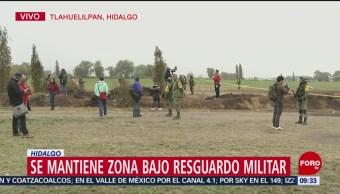 Mantienen bajo resguardo militar la zona de explosión en Tlahuelilpan