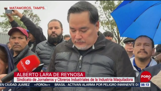 Foto:Levantan huelga en 14 empresas de Matamoros, 27enero 2019
