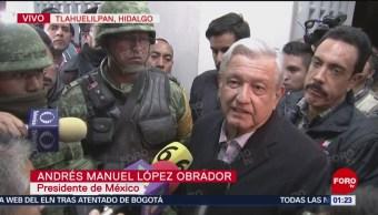 López Obrador Ofrece Mensaje Desde Tlahuelilpan Hidalgo