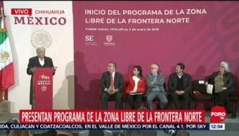 López Obrador presenta programa de Zona Libre de la Frontera Norte