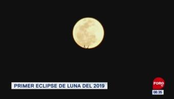 #LoQueVimosEnLaRed: Primer eclipse de luna del 2019