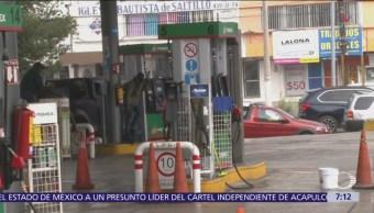 Las entidades más afectadas por falta de gasolina