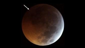 Video Meteorito impactó Luna eclipse