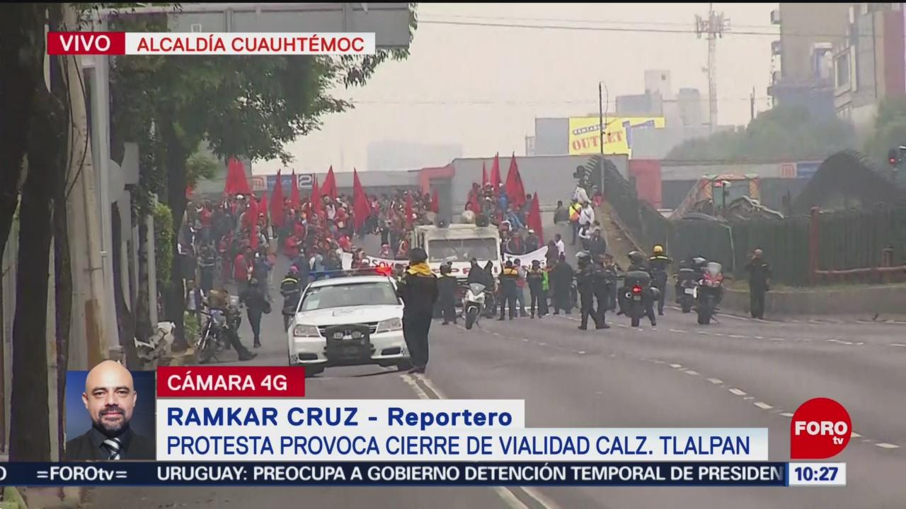 manifestantes cierran calzada de tlalpan cdmx