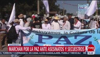 Marchan Para Exigir Condiciones De Paz En Guerrero, Marchan Por La Paz, Guerrero, Chilpancingo, Asociaciones Civiles, Organizaciones Sociales