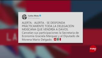 Foto: participación México Foro Económico Davos 23 de enero 2019