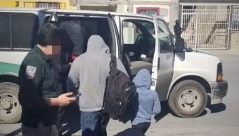 Foto: migrantes asegurados en Tamaulipas, 24 de enero 2019