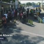 Migrantes llegan a frontera con Chiapas
