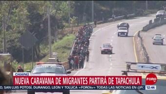 Migrantes salen de Chiapas sin recibir apoyo de la población