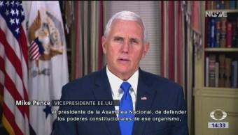 Mike Pence acusa a Maduro de ser un usurpador
