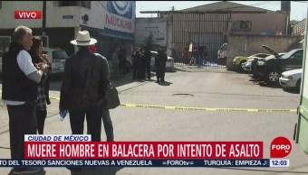 Muere hombre en balacera por intento de asalto en Naucalpan