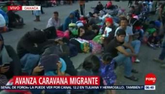 Nueva caravana migrante avanza por municipios de Oaxaca