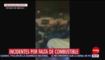 Ocurren incidente por falta de combustible en el Valle de México, Ocurren incidente por falta de combustible en el Valle de México