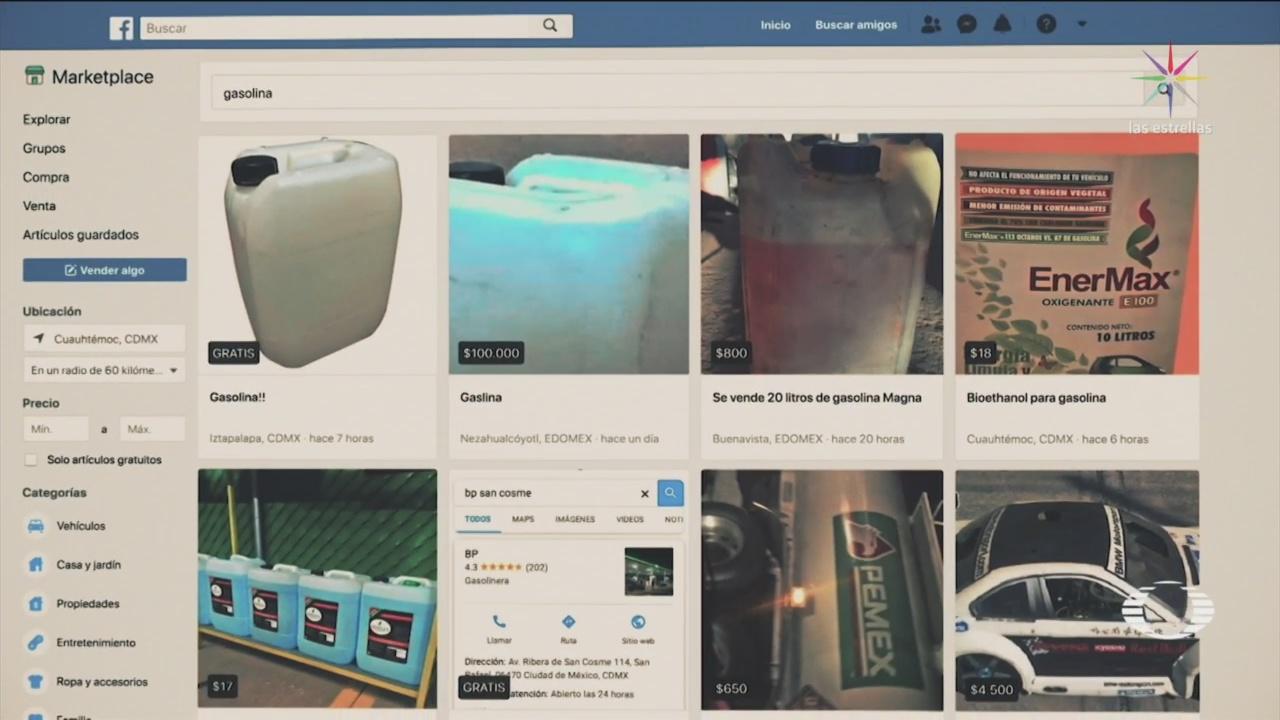 Ofrecen Bidones De Gasolina En Facebook