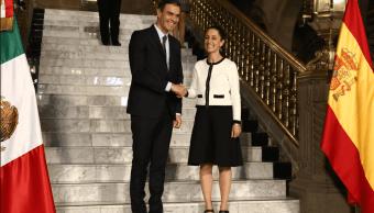 Sheinbaum reconoce a Pedro Sánchez, reconocimiento de huésped distinguido, twitter, 31 enero 2019