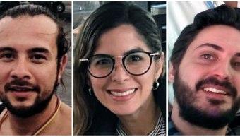 Foto: Los tres periodistas de la Agencia EFE, los colombianos Mauren Barriga (c); el fotógrafo Leonardo Muñoz (izda), y el español Gonzalo Domínguez, detenidos por las autoridades de Venezuela en Caracas, 31 enero 2019