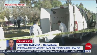 Persona muere atropellada en ferrocarril Hidalgo, GAM