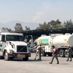 Foto: Pipas de 36 mil litros y doble tanque de Pemex dentro del Campo Militar número 1, Ciudad de México, 21 de enero de 2019 (Notimex)