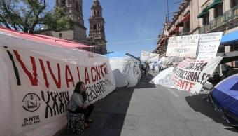 FOTO CNTE acuerda levantar bloqueos en Michoacán Morelia 30 enero 2019