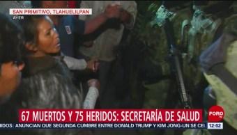 Pobladores riñen con militares en zona de explosión en Hidalgo
