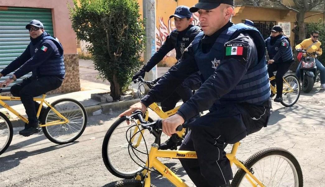 Ciudad-Neza-desabasto-gasolina-Policias-bici-delincuencia