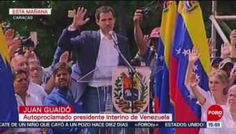 Protestan contra Maduro; Juan Guaidó se declara presidente