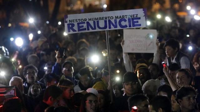 Colombianos exigen renuncia del fiscal por caso Odebrecht