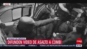 Foto: video de un asalto a una combi del edomex, 23 de enero 2019