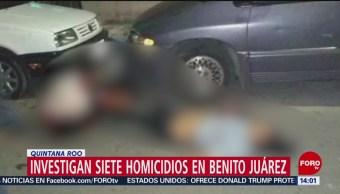 Quintana Roo investiga homicidio de 7 personas